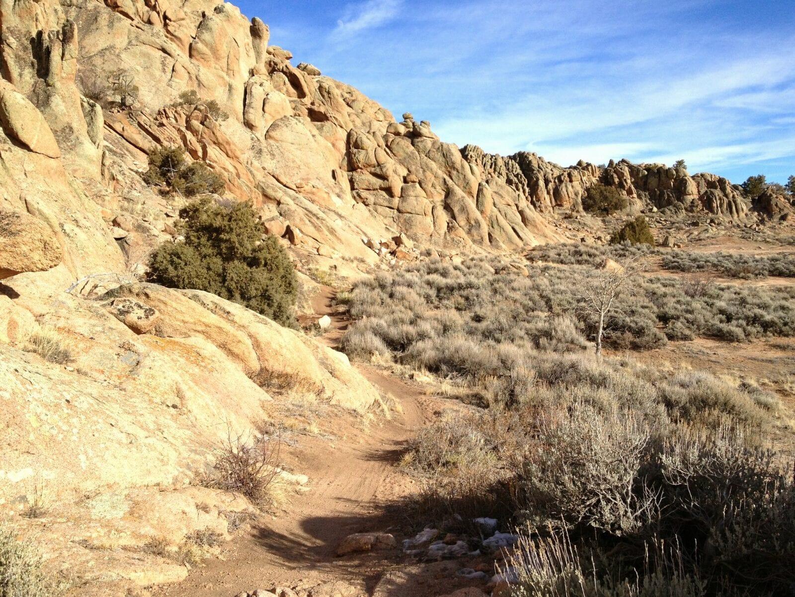 Image of the terrain in the Hartman Rock Recreation Area in Gunnison, Colorado