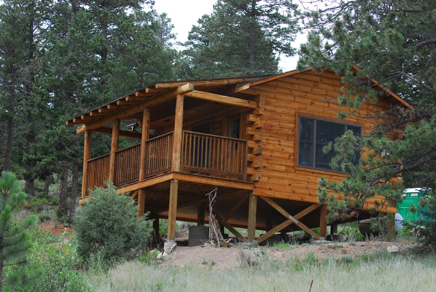 Image of a cabin at Hermit Park Open Space in Estes Park, Colorado