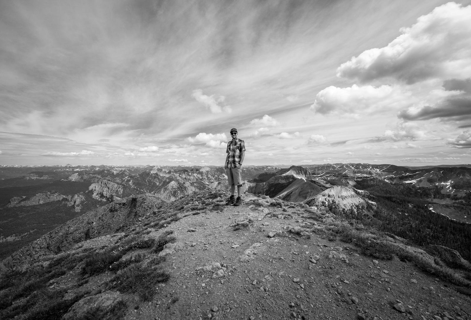 Pagosa Peak Summit Hiker Colorado