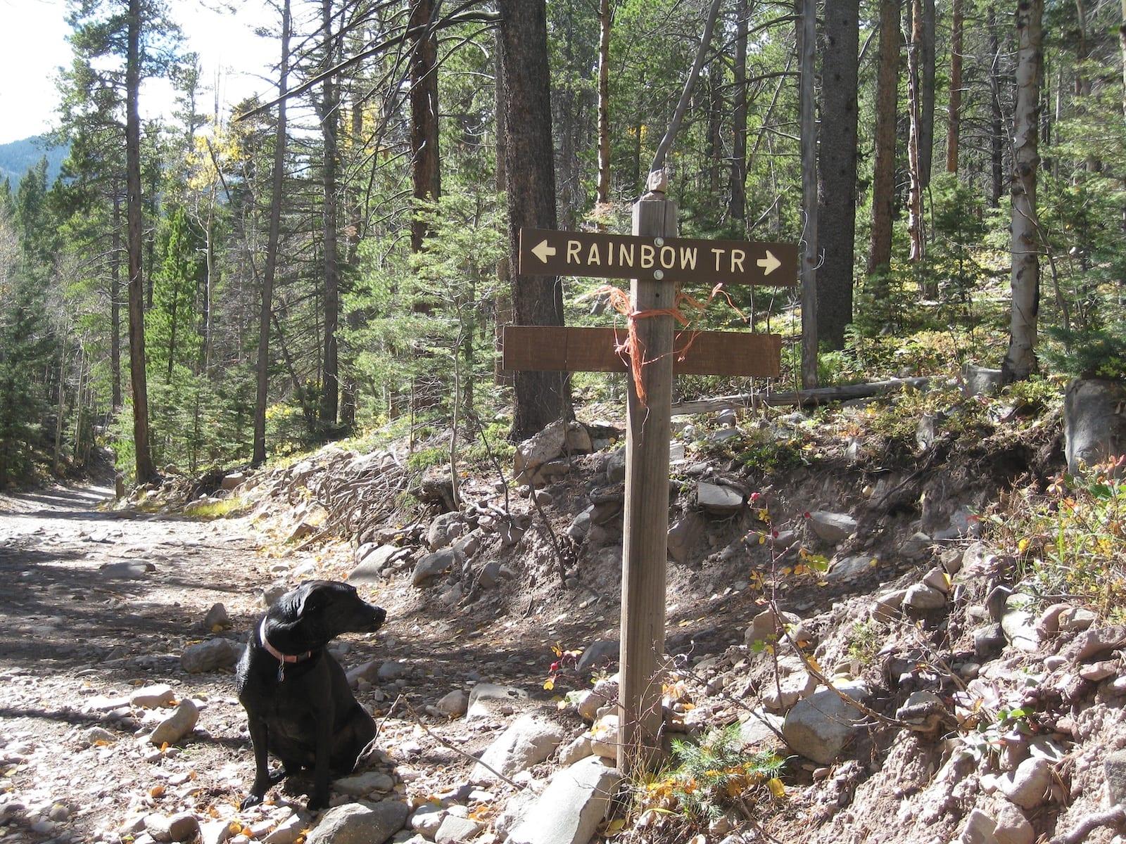 Rainbow Trail Sign Westcliffe CO