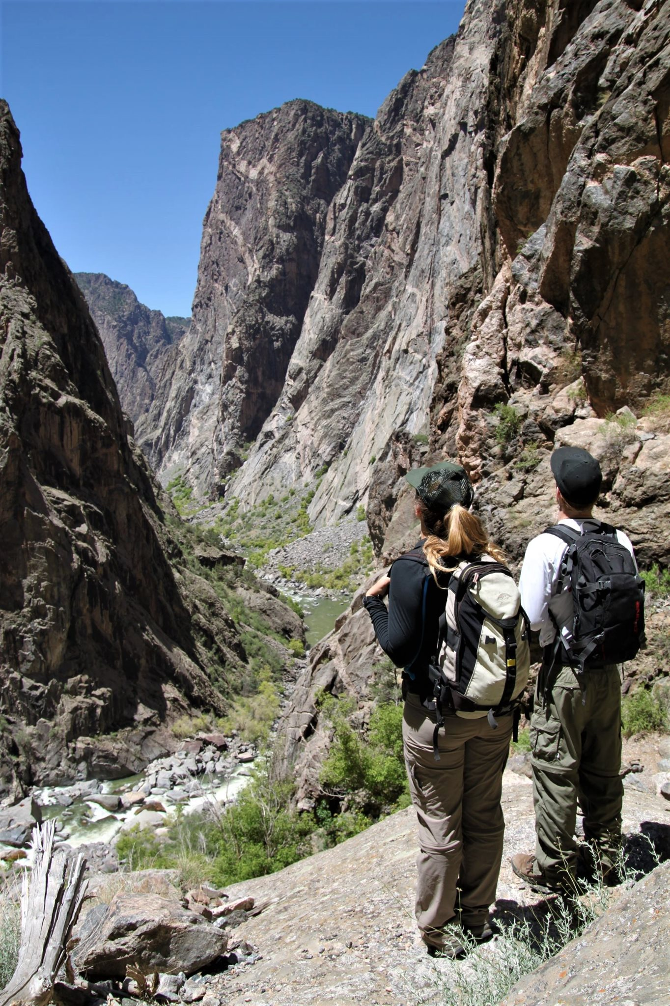image of hikers at the black canyon