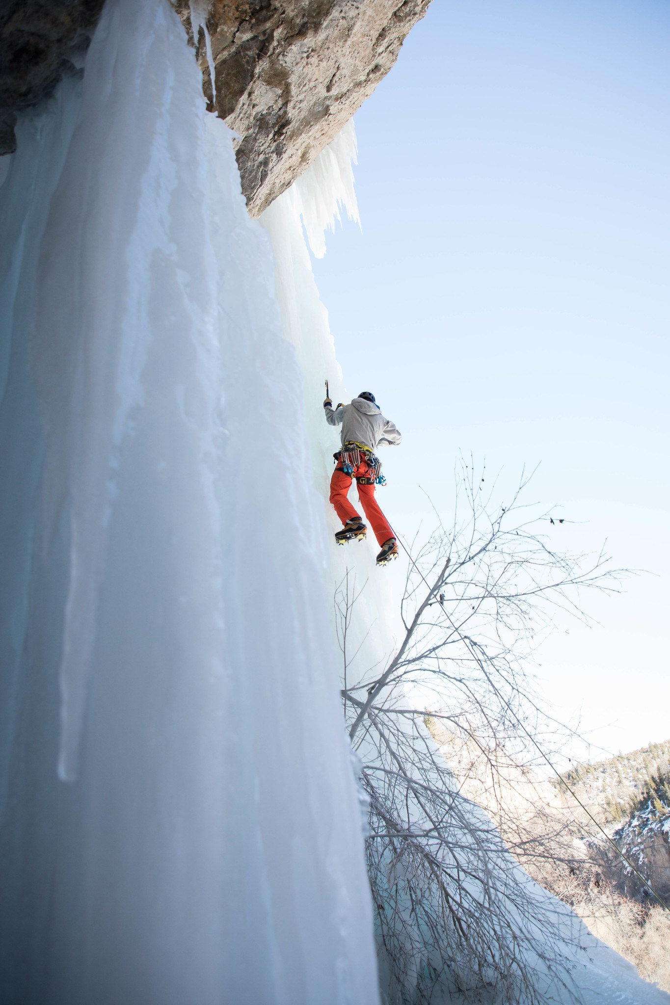 image of ice climbing at rifle mountain park