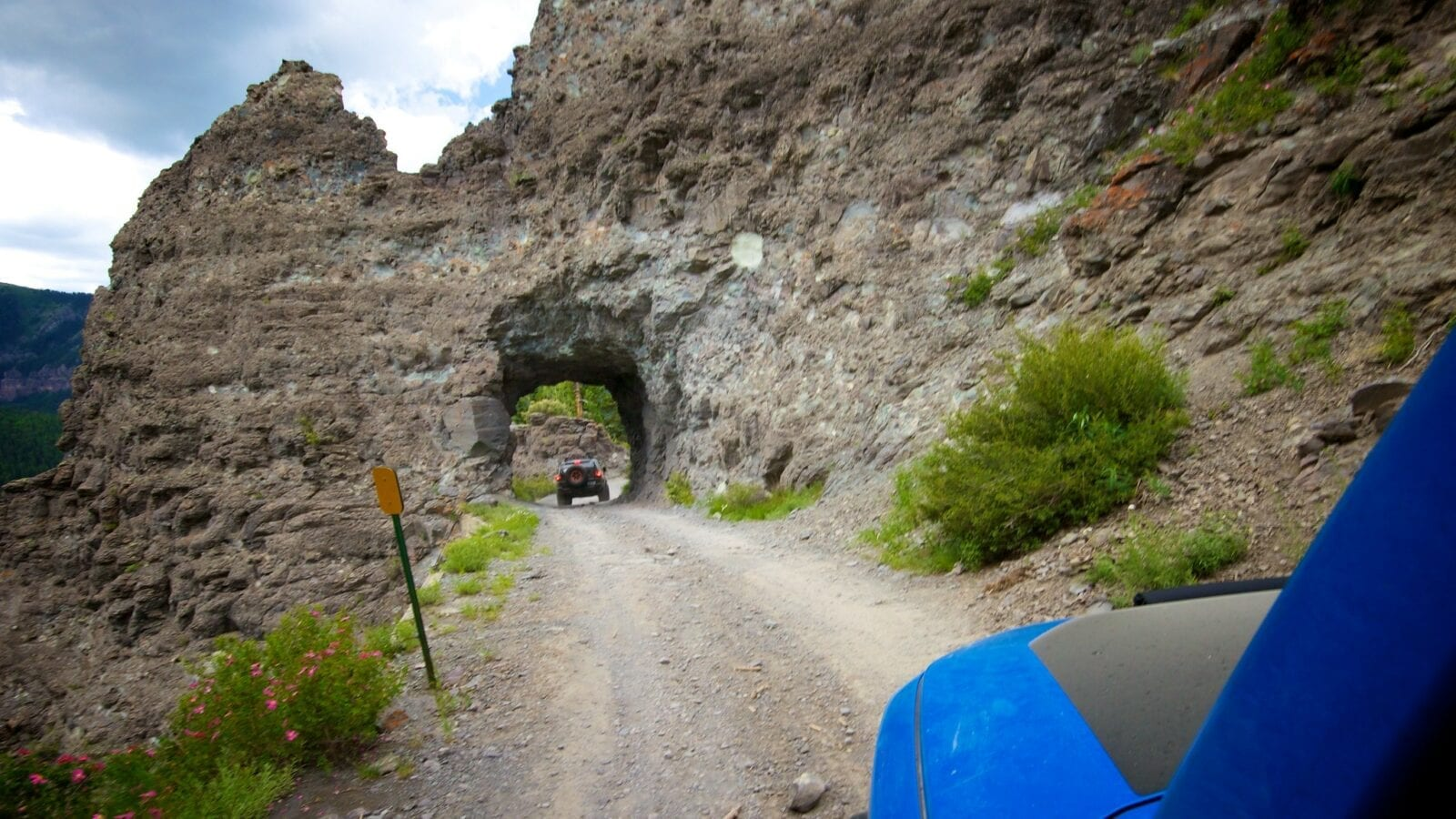 Image of a tunnel on the Imogene Pass in Colorado