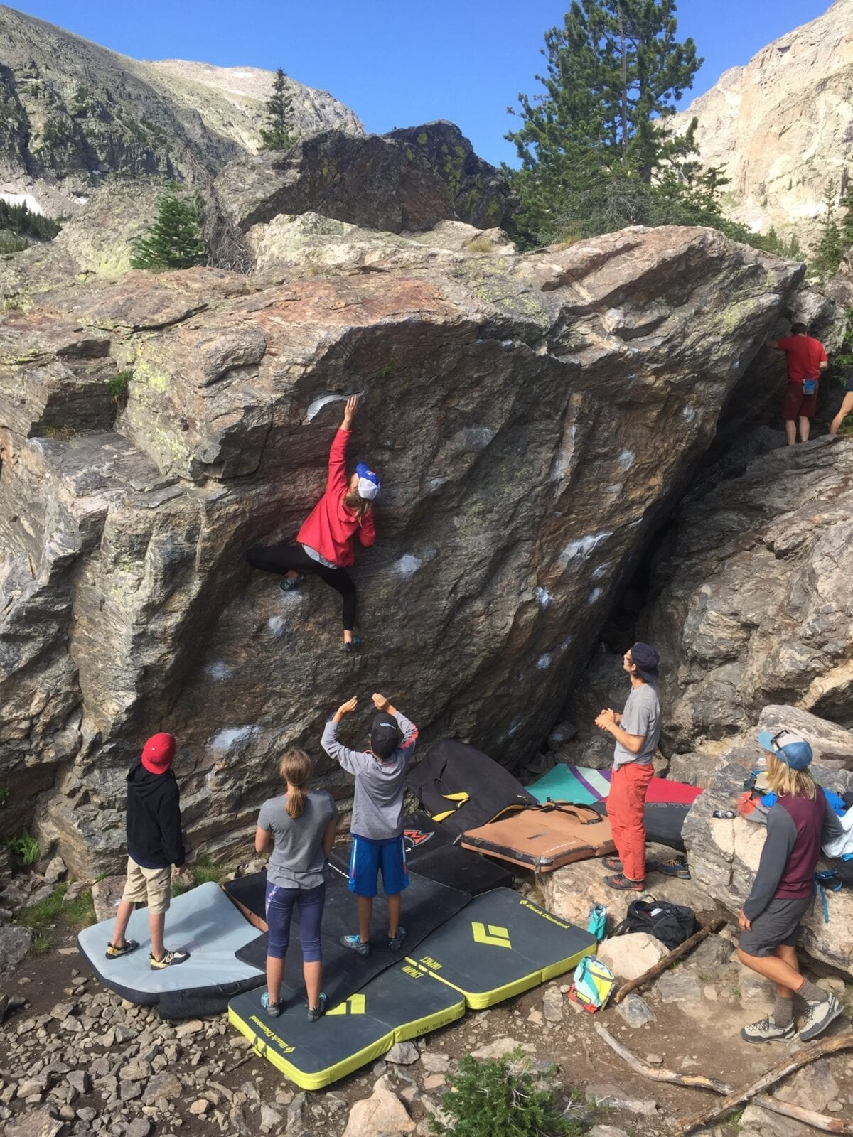 Image of people bouldering at Kent Mountain Adventure Center in Estes Park, Colorado