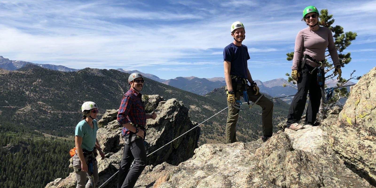 Image of people climbing at Kent Mountain Adventure Center in Estes Park, Colorado