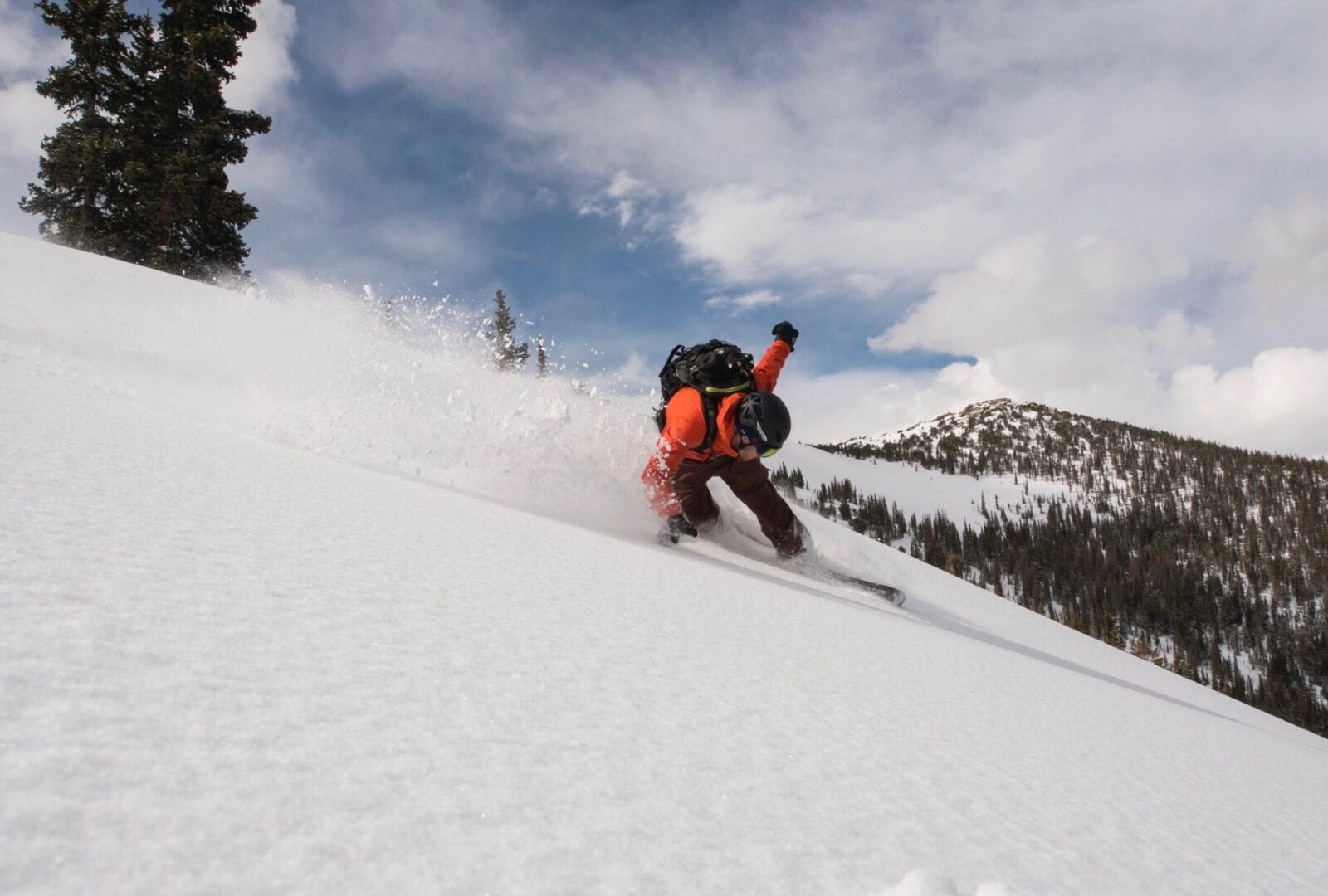 Image of a guy on a splitboard at at Kent Mountain Adventure Center in Estes Park, Colorado