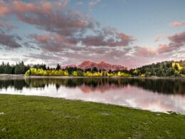Image of the sun setting at Lost Lakes Campground in Paonia, Colorado