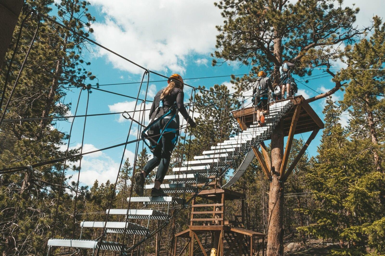 Image of adventurers on the Mount Evans Via Ferrata in Idaho Springs, Colorado