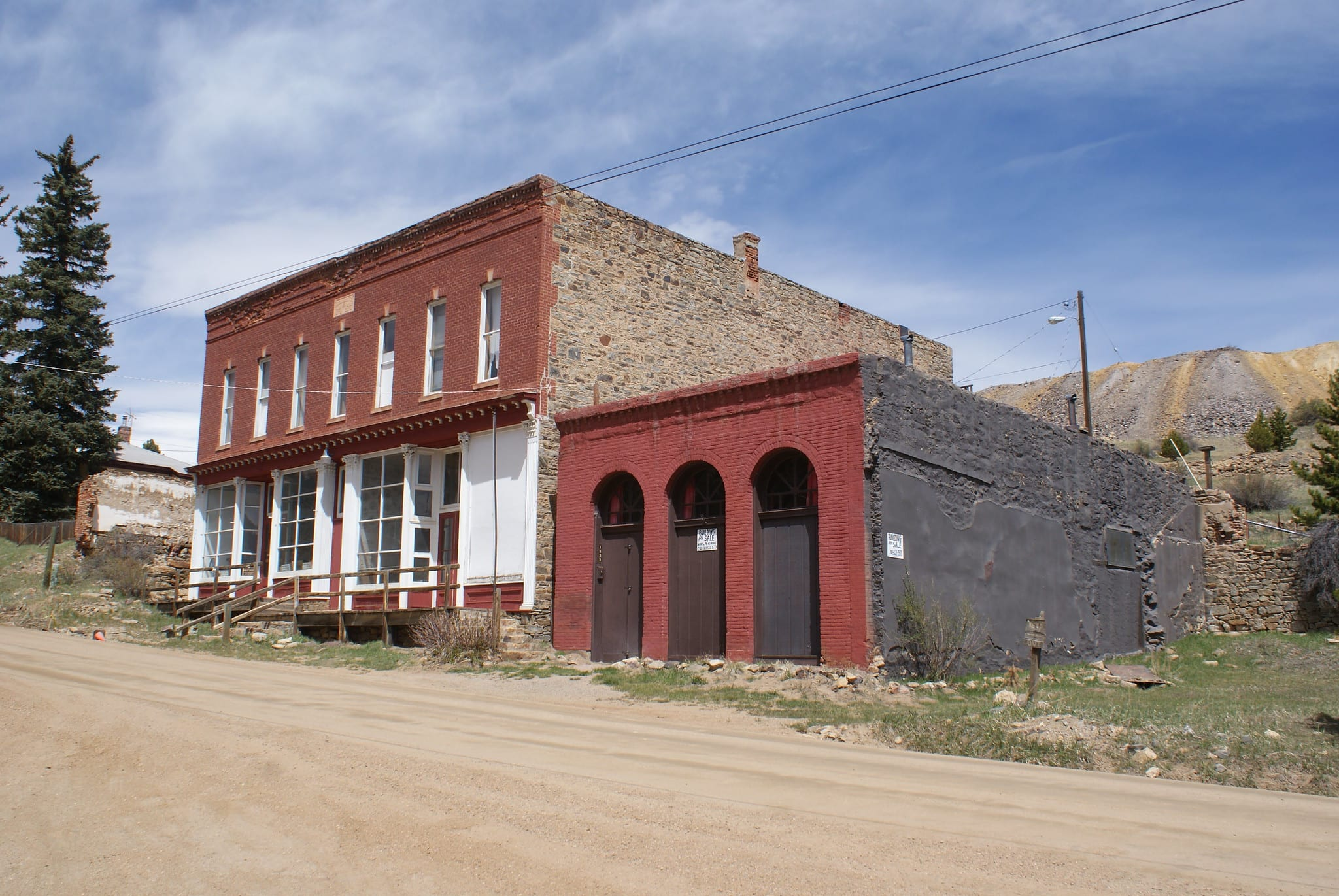 image of nevadaville ghost town