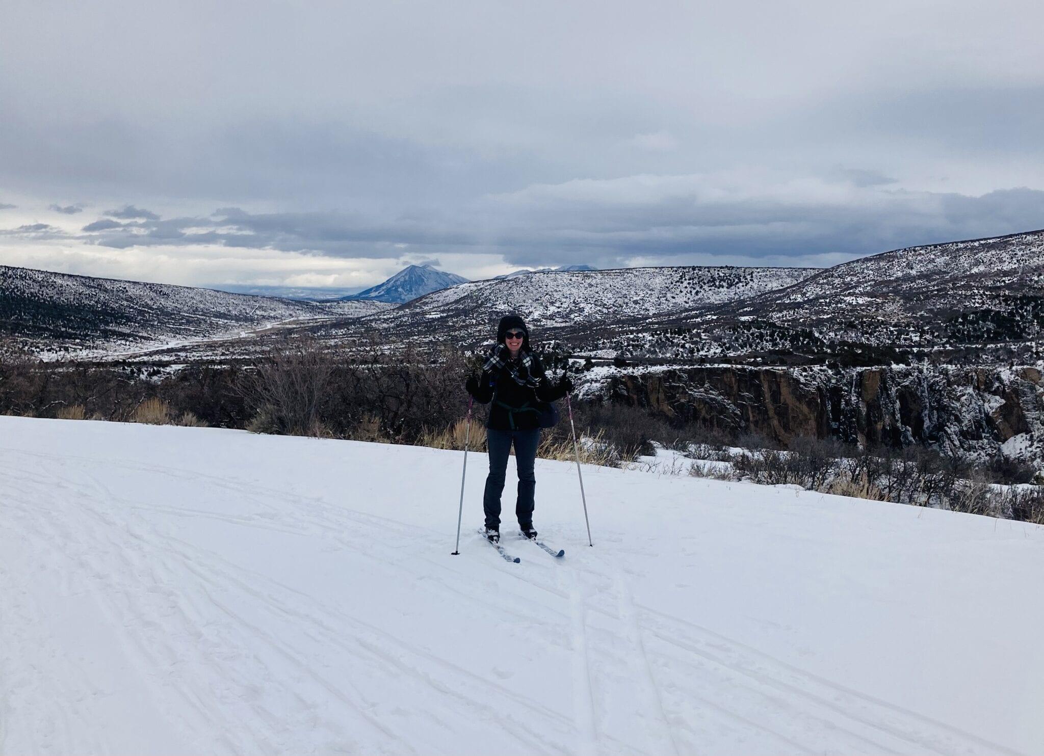 image of nordic skier at black canyon