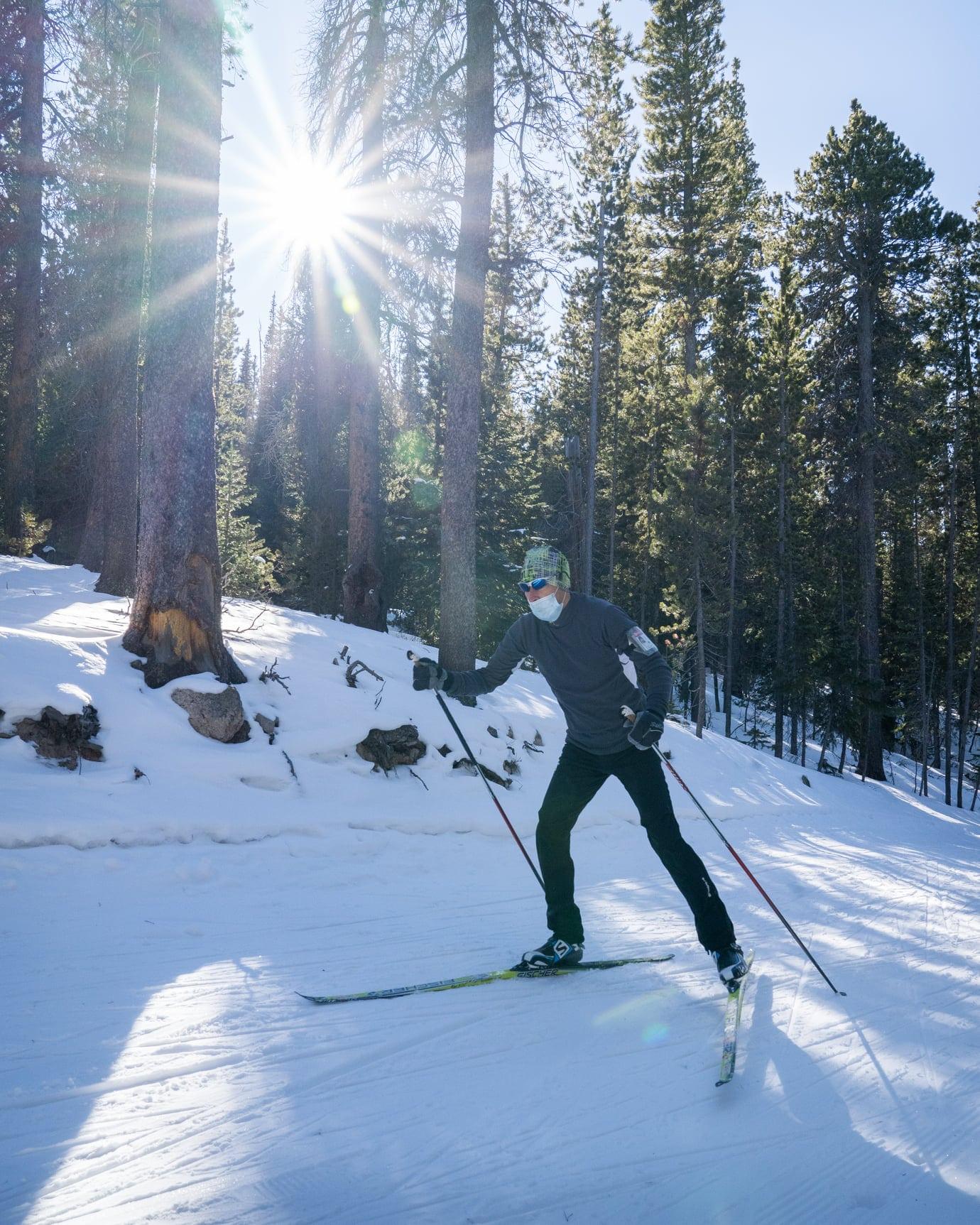 image of nordic skier