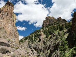 Image of rock formations north of Creede on the bachelor loop in Colorado