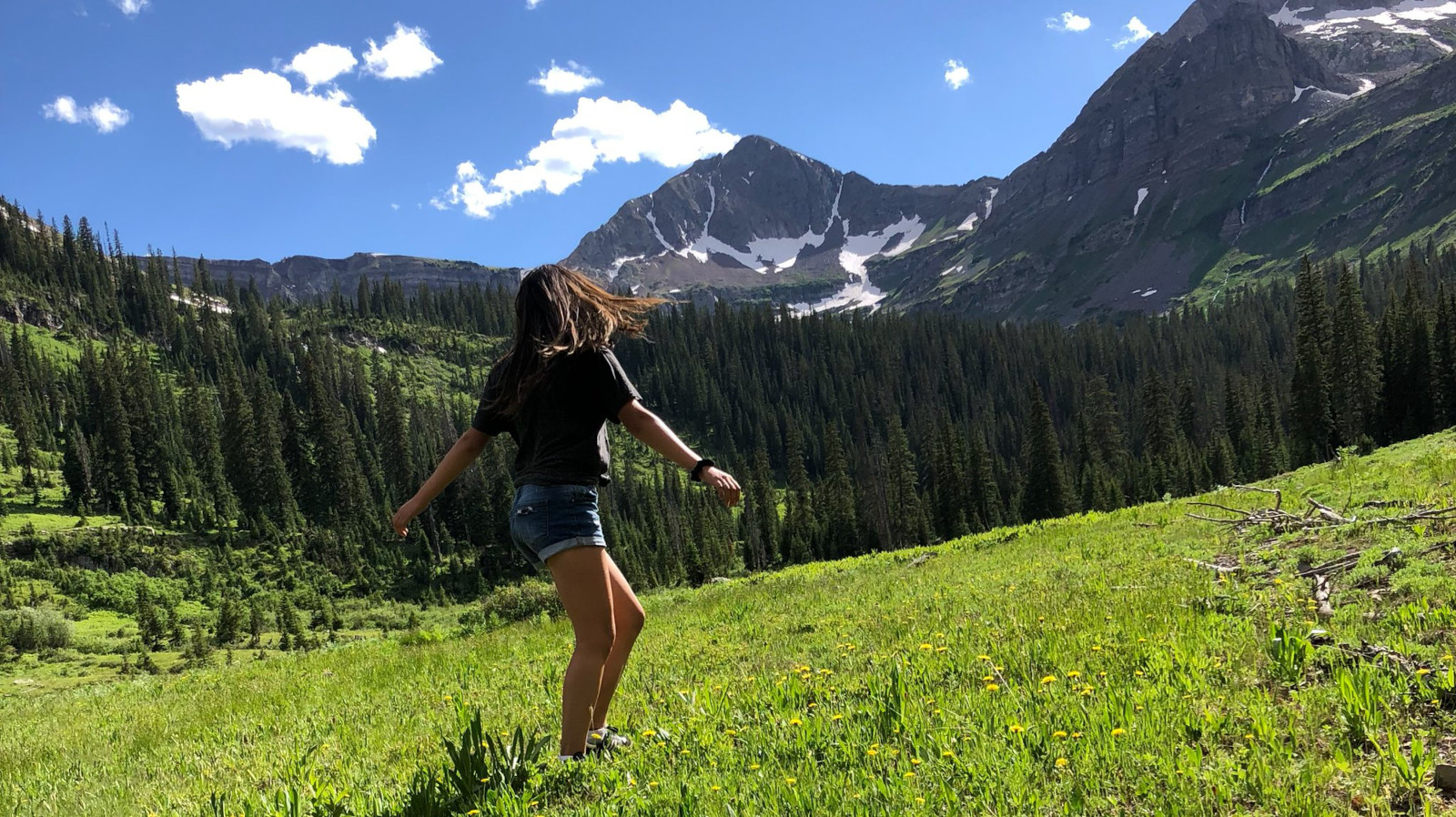 Image of a girl at Oh Be Joyful Recreation Area and Campground in Crested Butte, Colorado