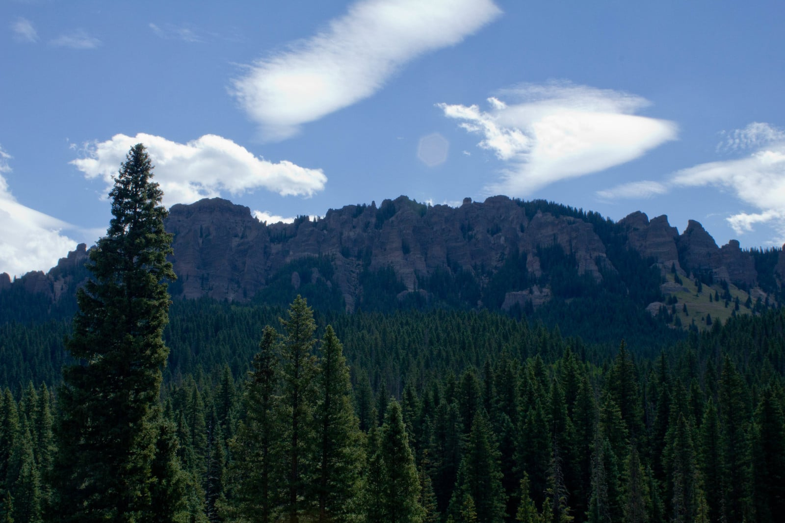 Image of scenic mountains at Owl Creek Pass in Ridgway, Colorado