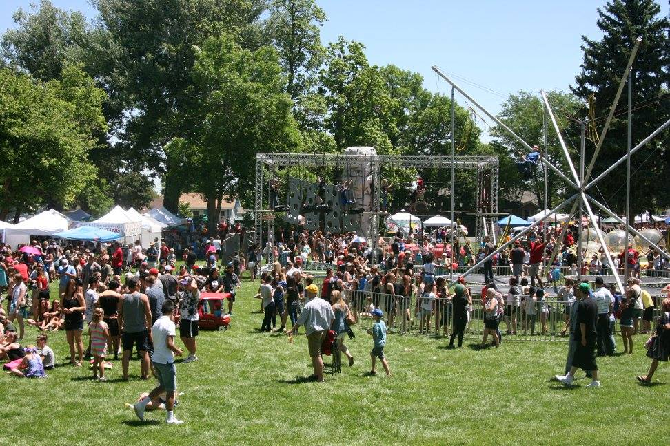 Image of a summer bbq event at Parish Park in Johnstown, Colorado