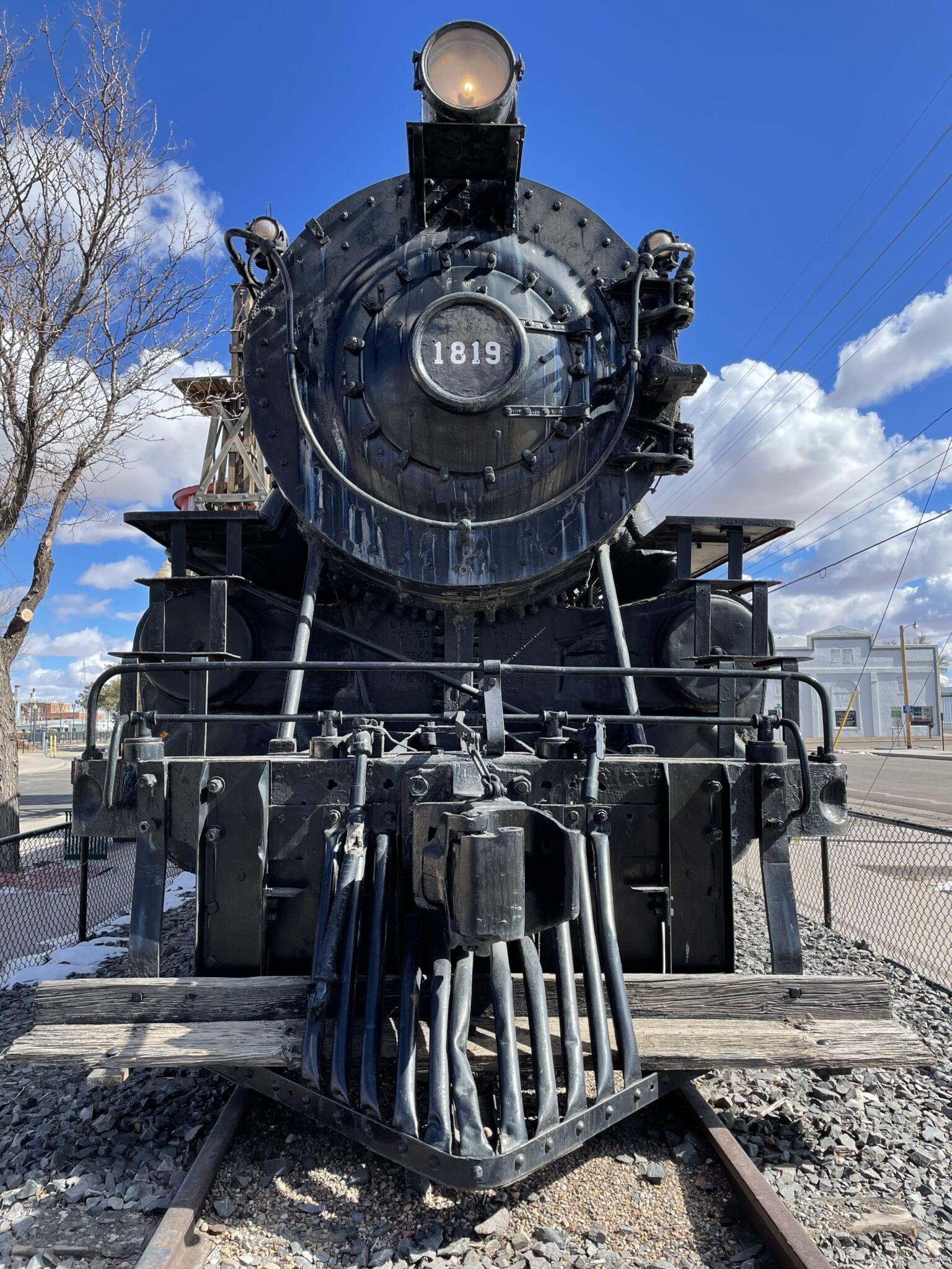image of steam engine in lamar