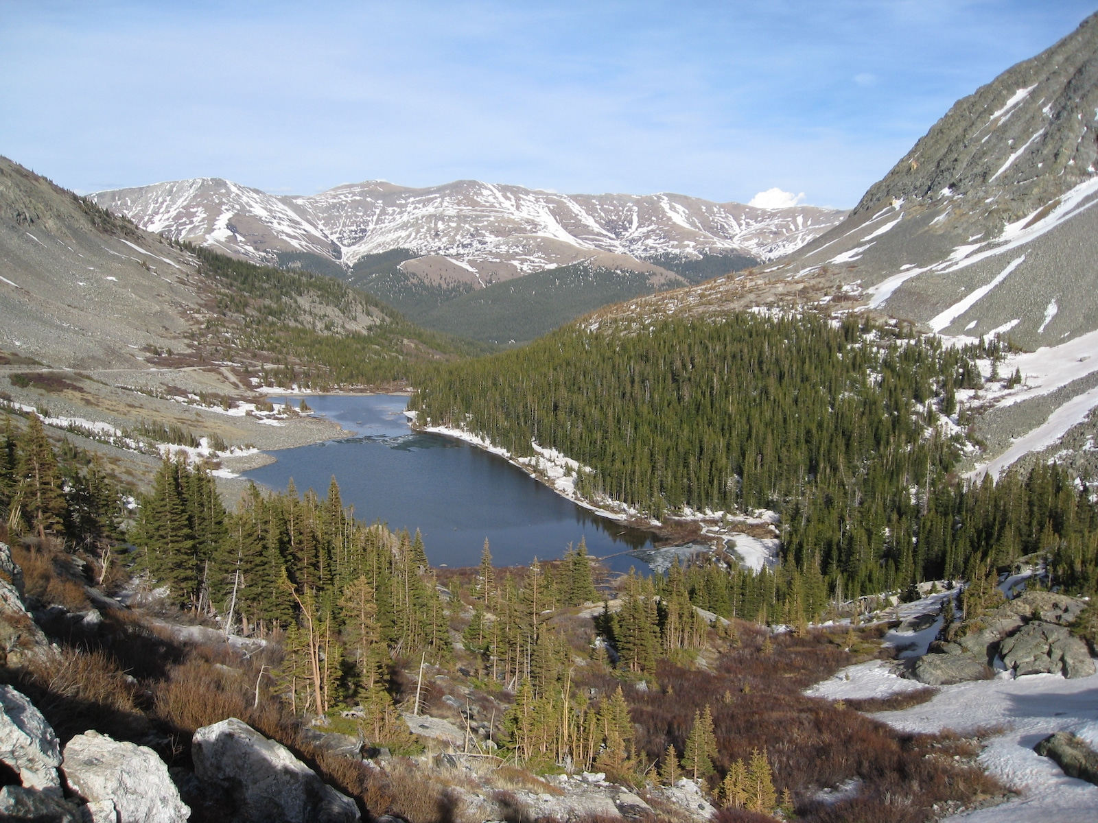 Blue Lakes view from Quandary Peak Colorado