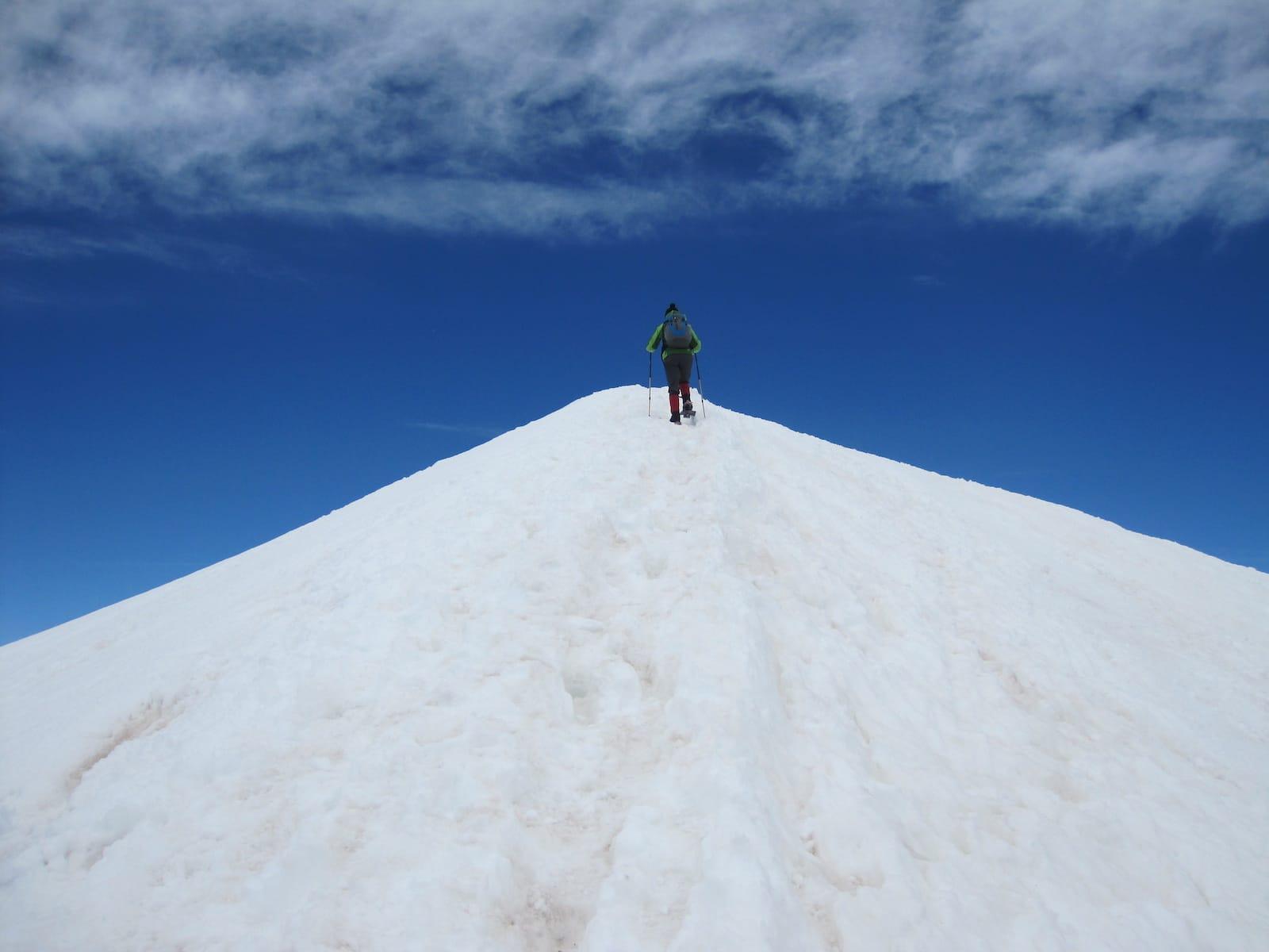 Quandary Peak Hiking Trail Snowshoeing