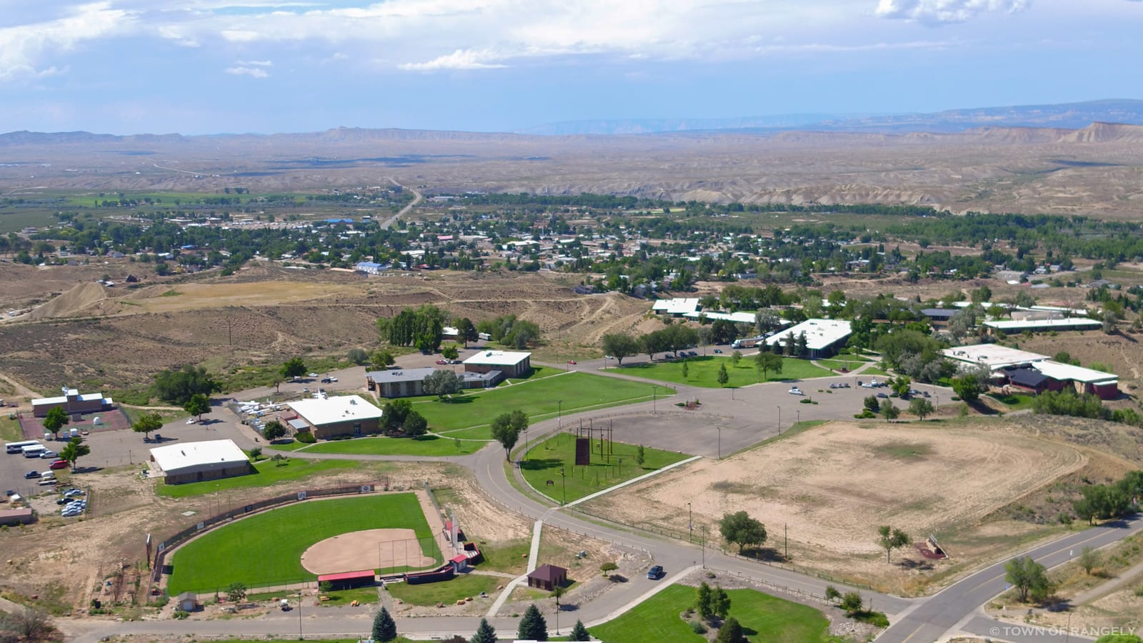 Aerial View Rangely CO