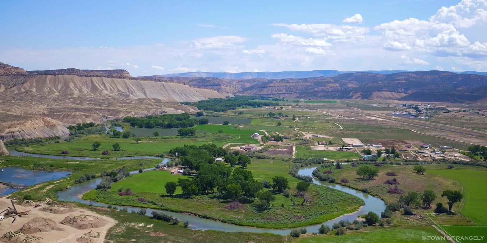 Rangely Colorado Aerial View