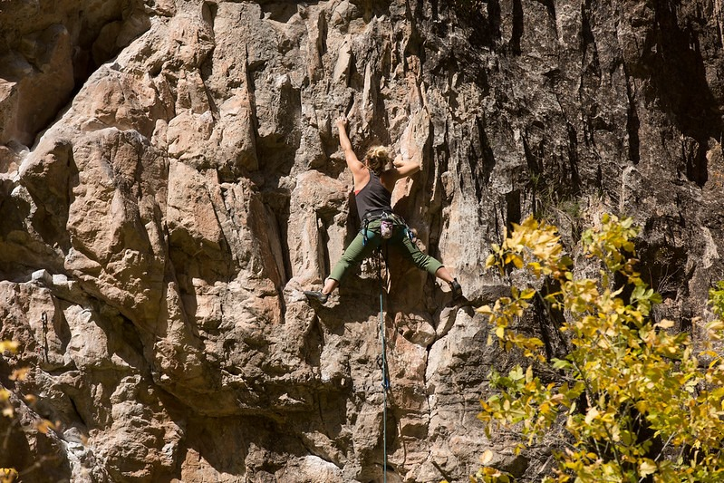 image of rock climbing at Rifle Mountain Park