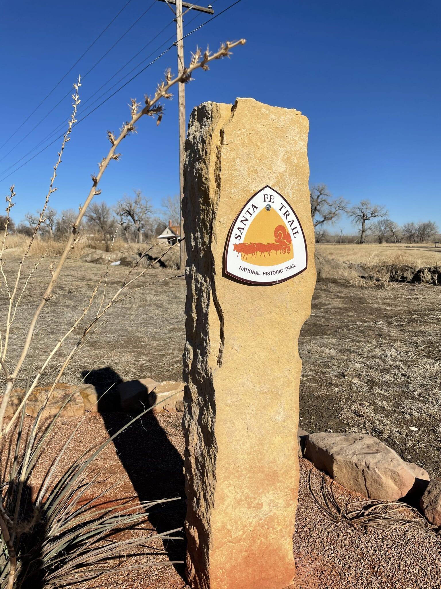 image of santa fe trail marker