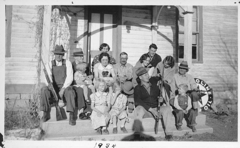 Image from 1934 showing the old inhabitants of Schweiger Ranch