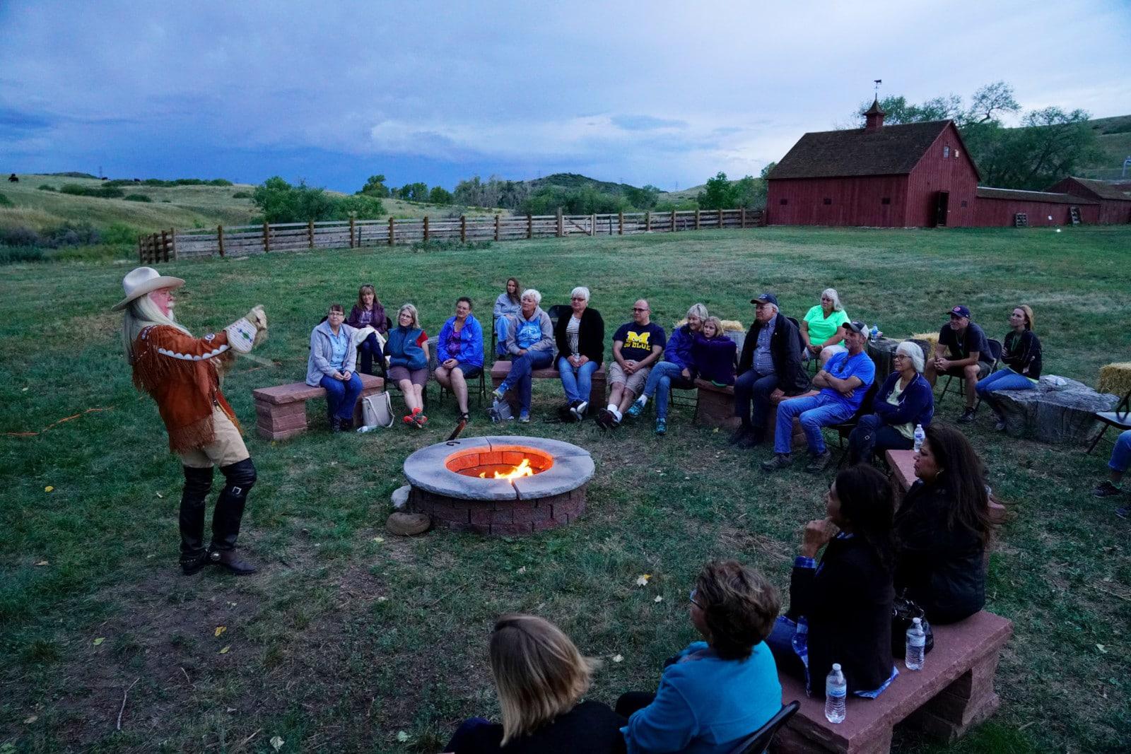 Image of a campfire at Schweiger Ranch in Lone Tree, Colorado