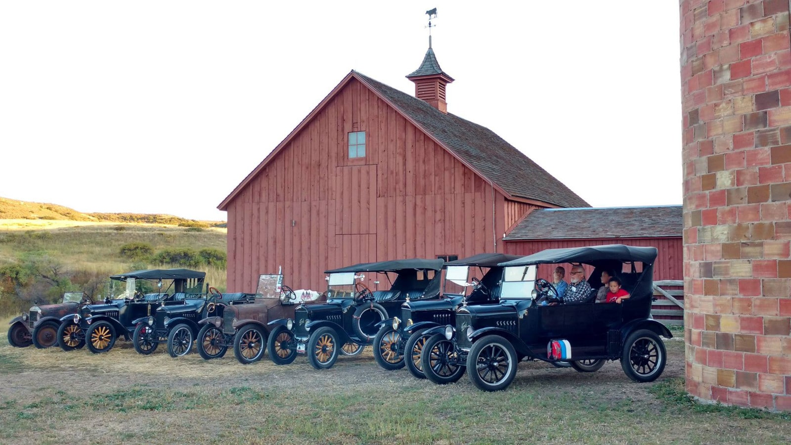 Image of vintage cars at Schweiger Ranch in Lone Tree, Colorado