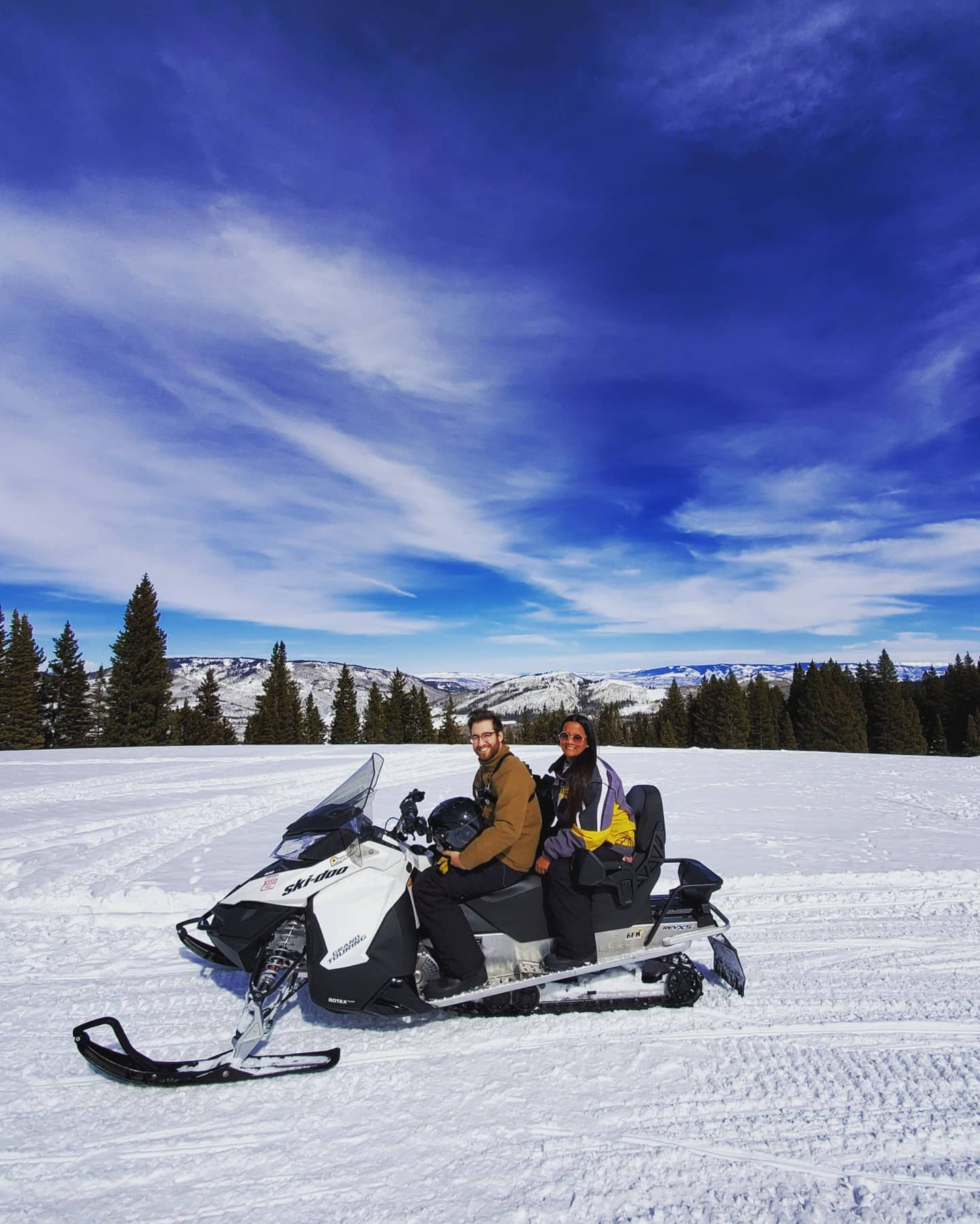 image of snowmobiling in glenwood springs