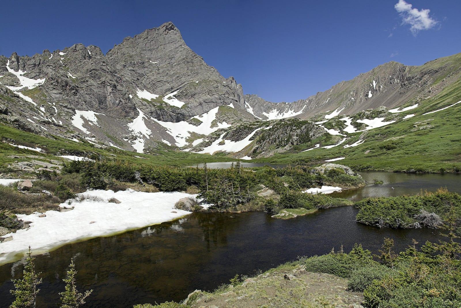 South Colony Lake Crestone Needle Colorado