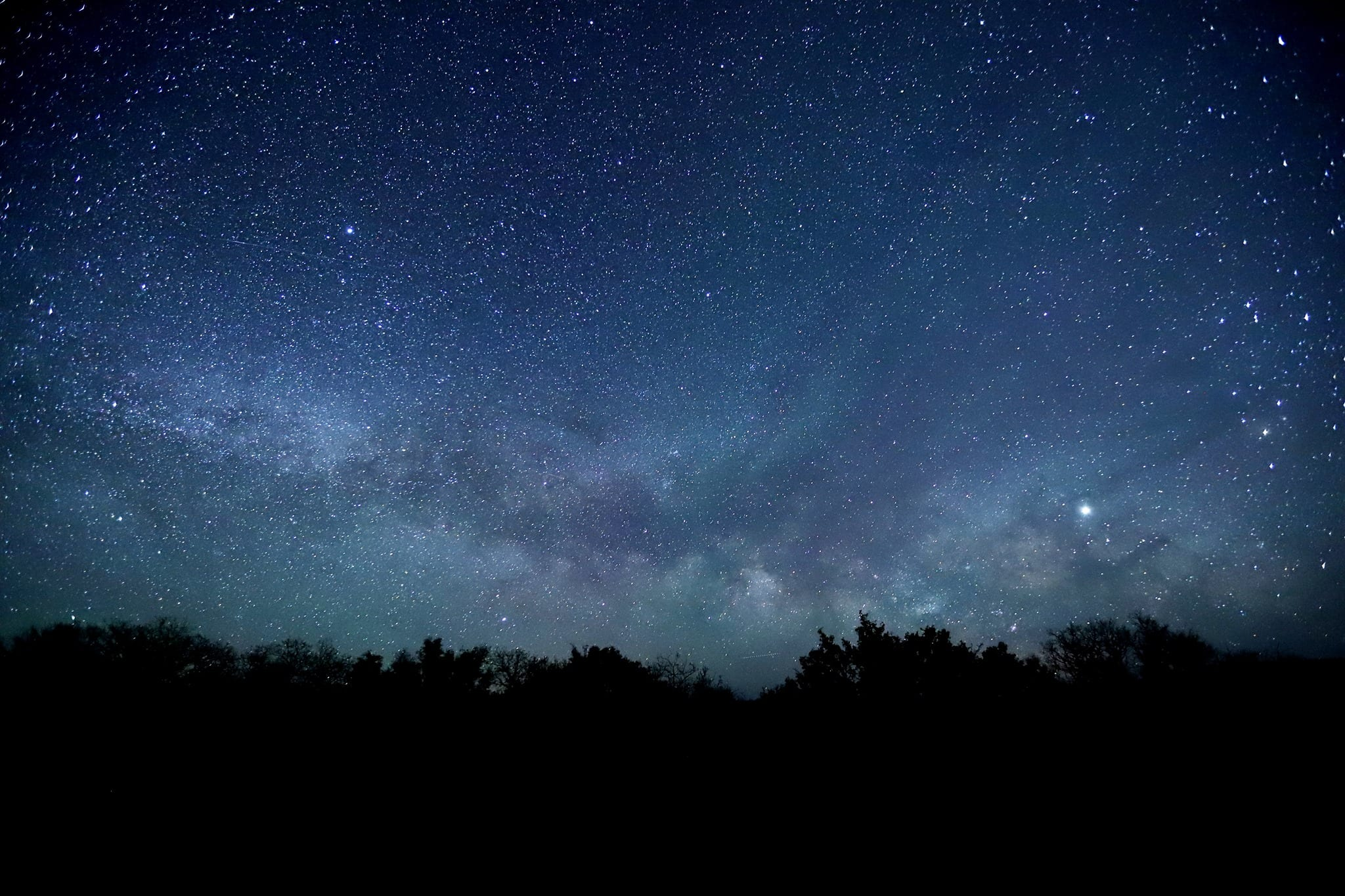 image of starry sky at black canyon