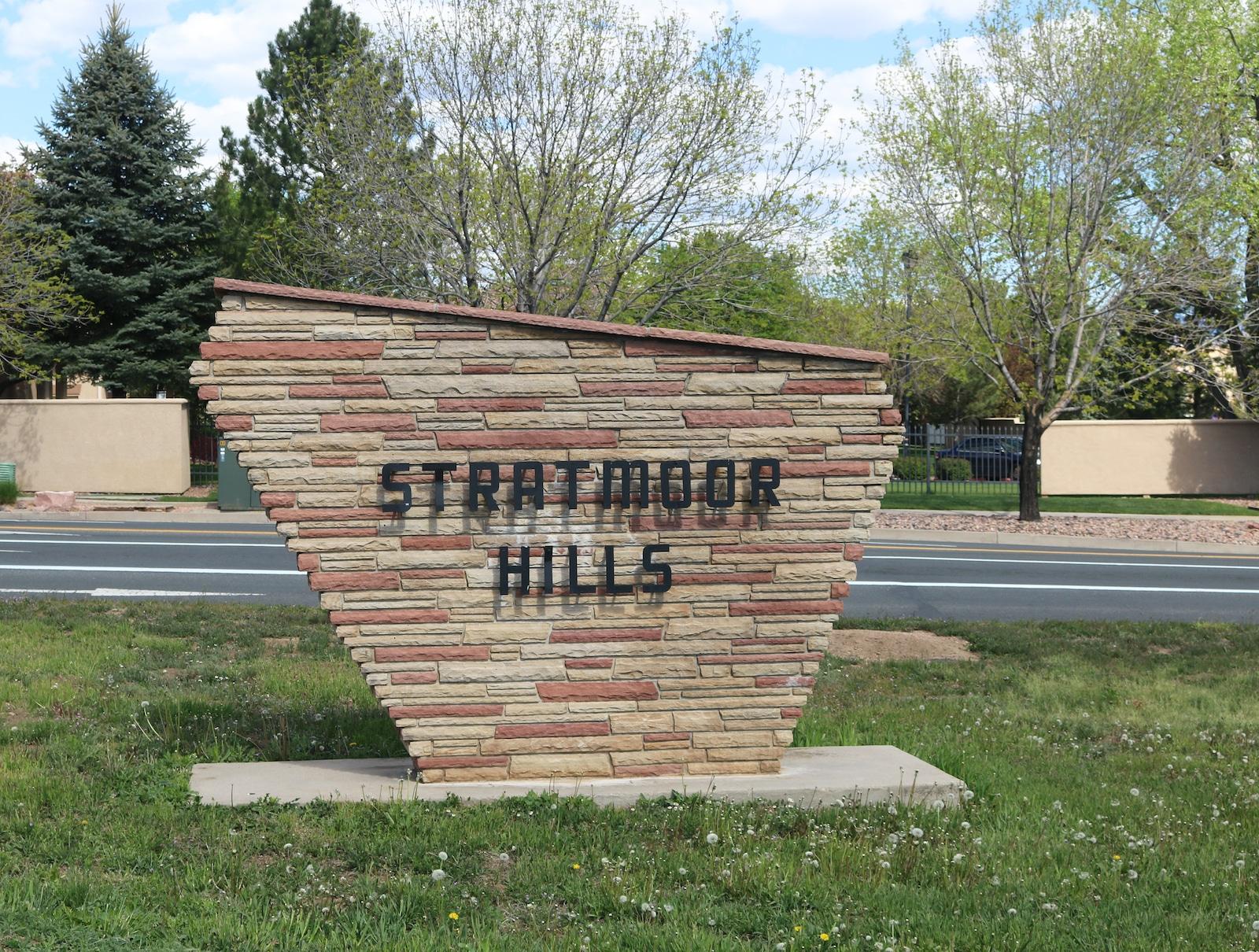 Stratmoor Colorado Stratmoor Hills Sign