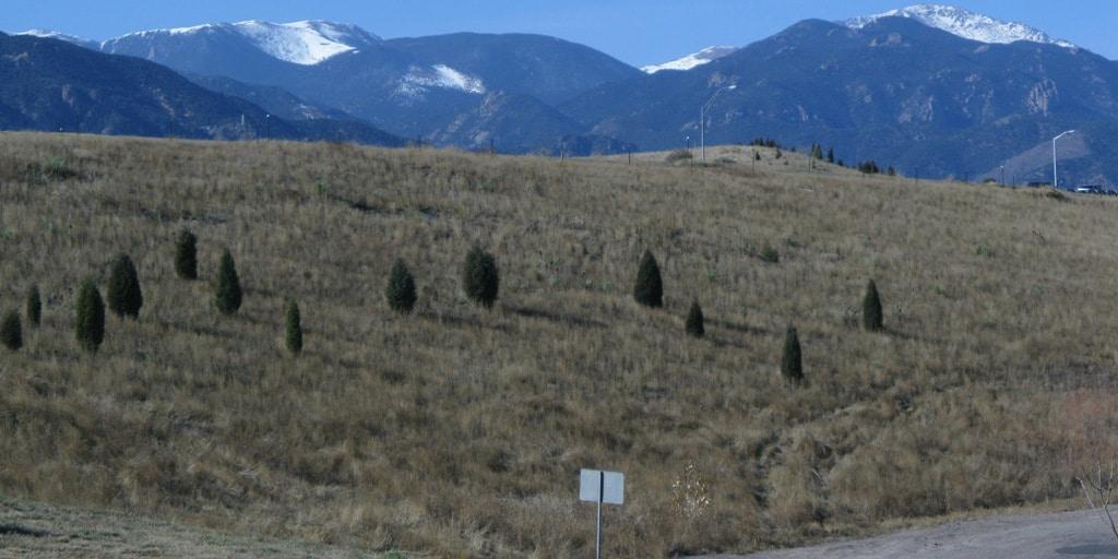 Stratmoor Colorado Front Range Mountains hillside