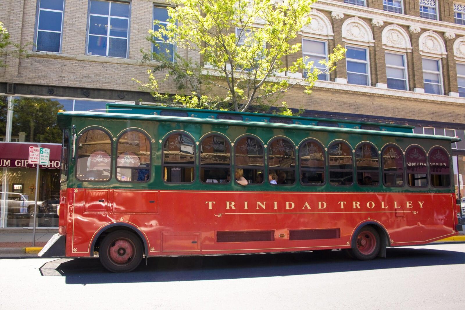 Image of the Trinidad Trolley in Trinidad Colorado