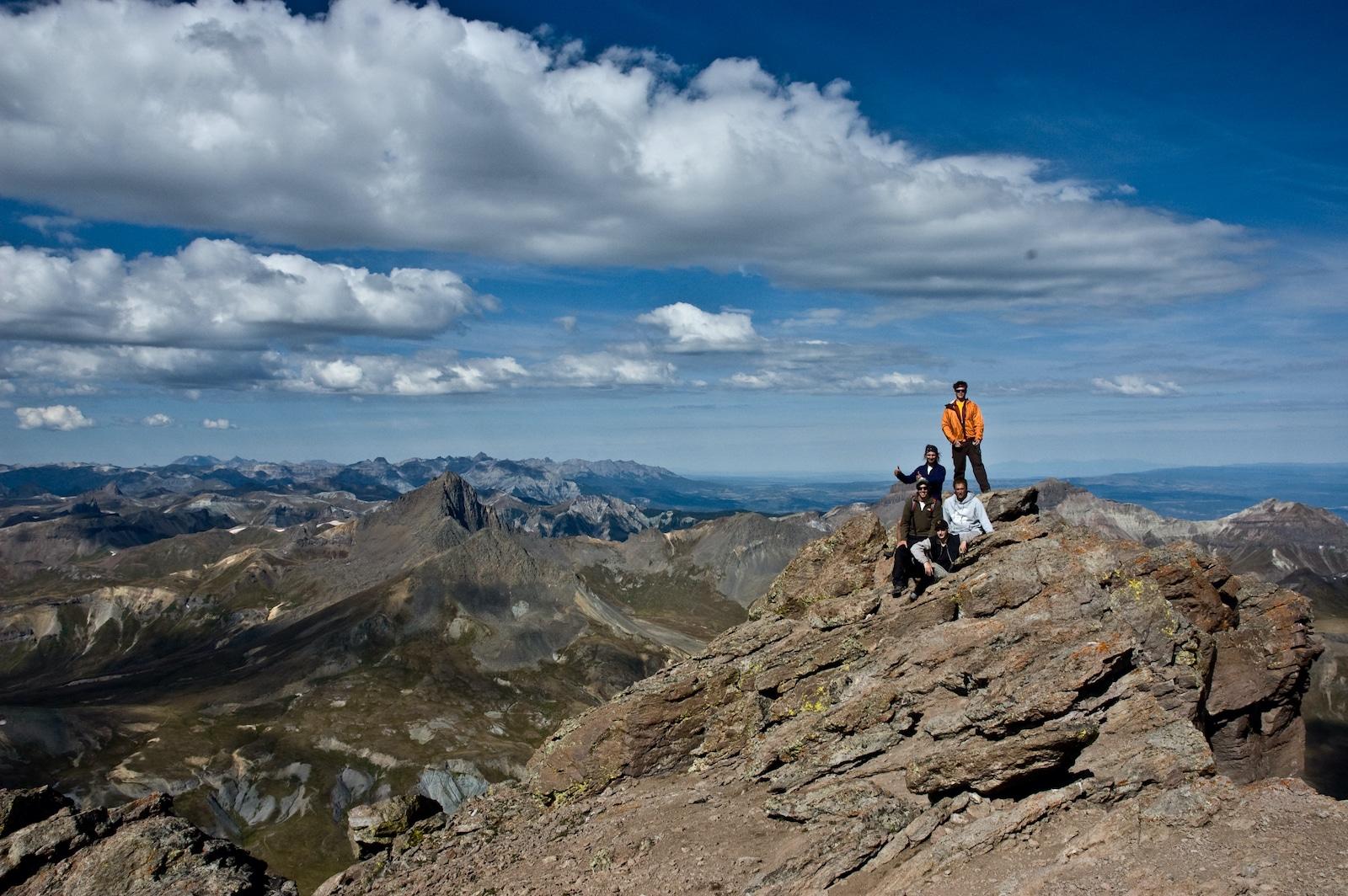 Hikers on Uncompahgre Peak Montrose CO