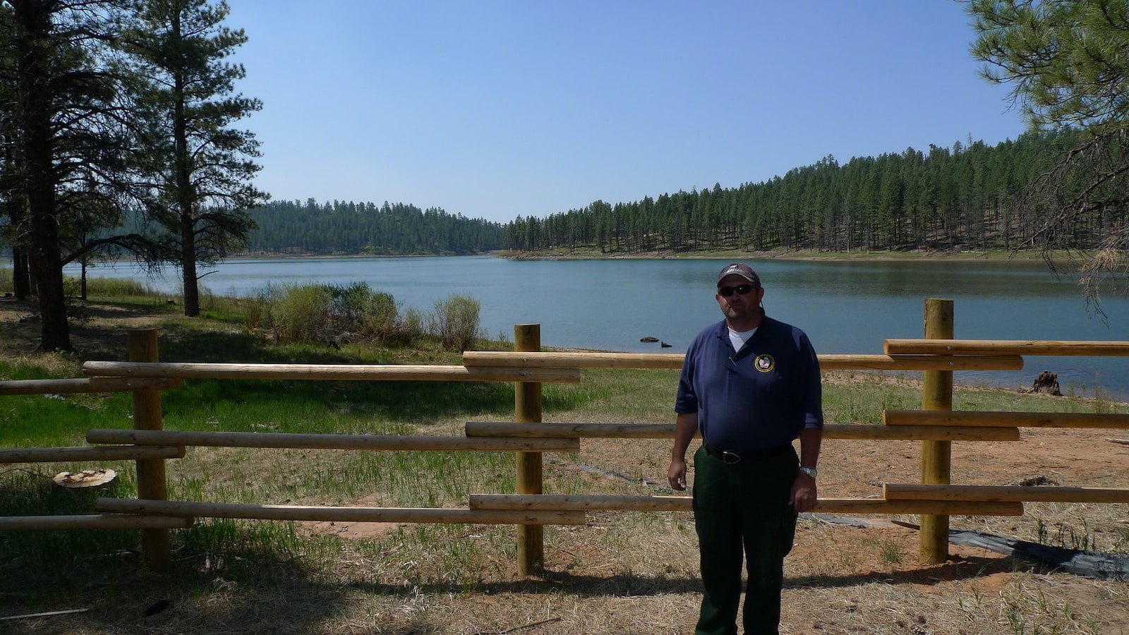 Image of a man at the Buckeye Reservoir in Paradox, Colorado