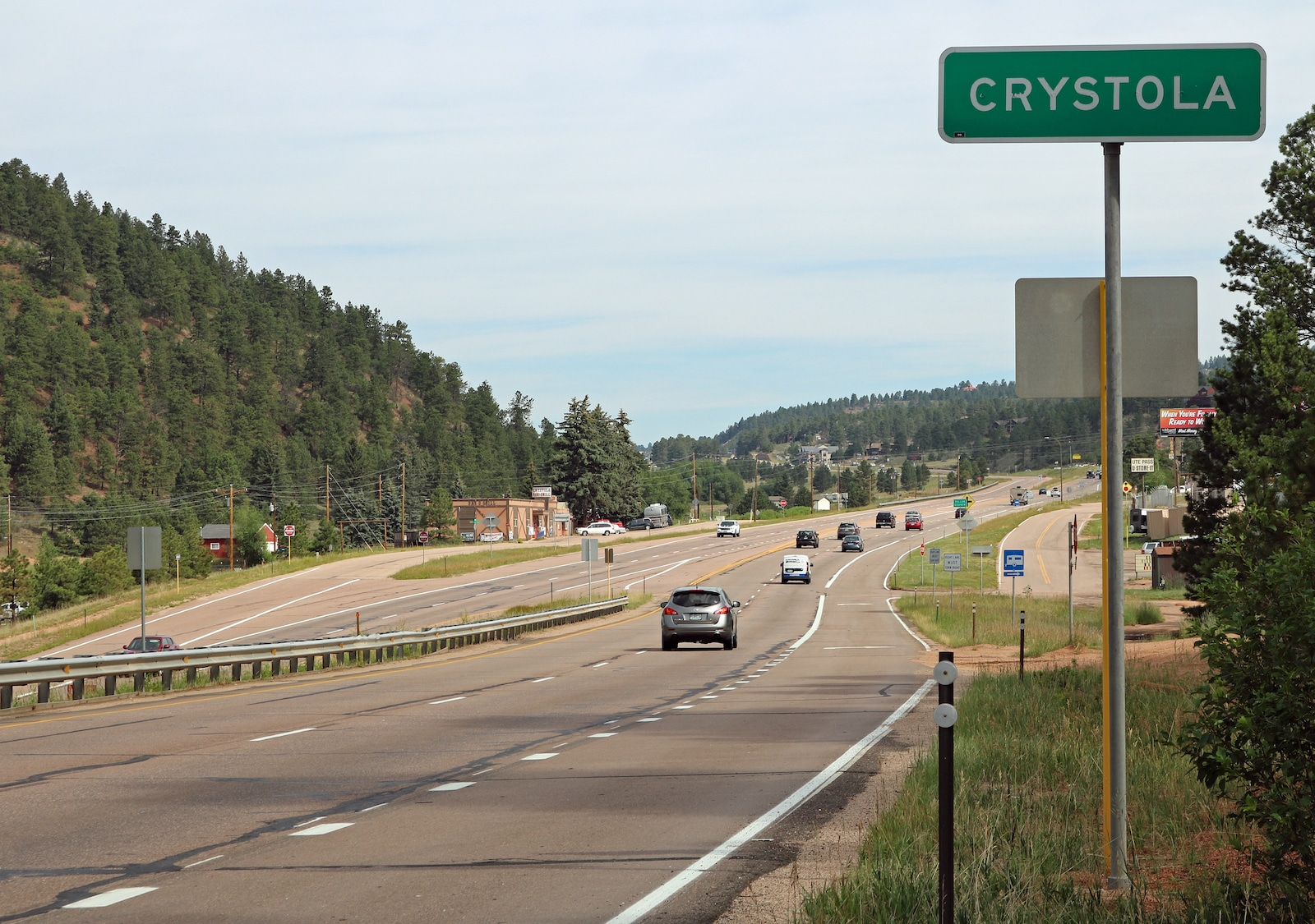 Crystola Colorado Sign Highway US-24