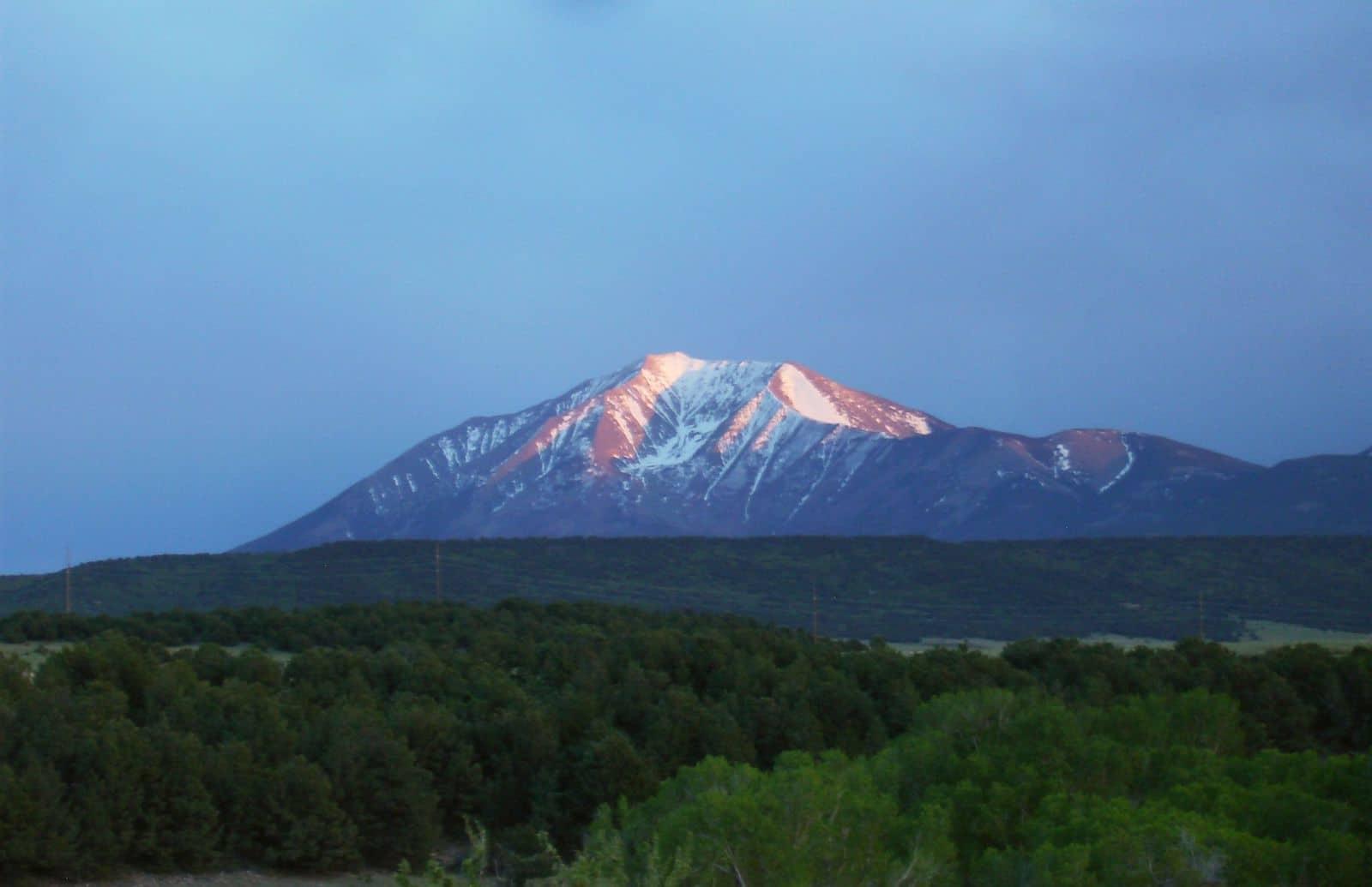 East Spanish Peak Colorado Evening