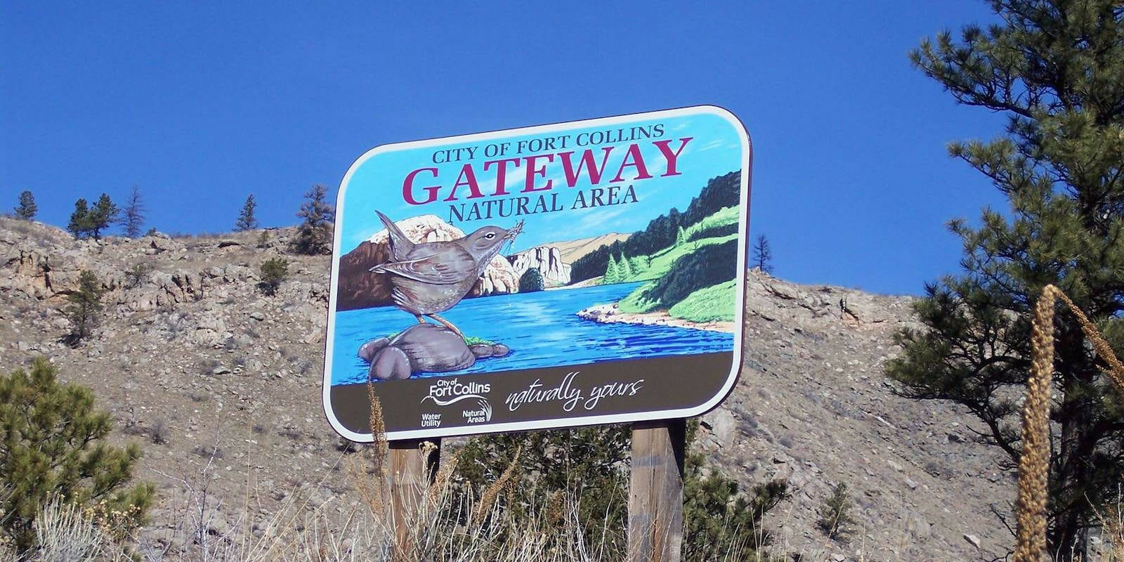 Image of the sign to the Gateway Natural Area in Colorado
