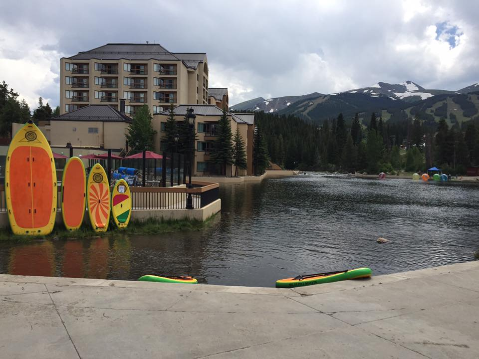 image of paddleboards at maggie pond