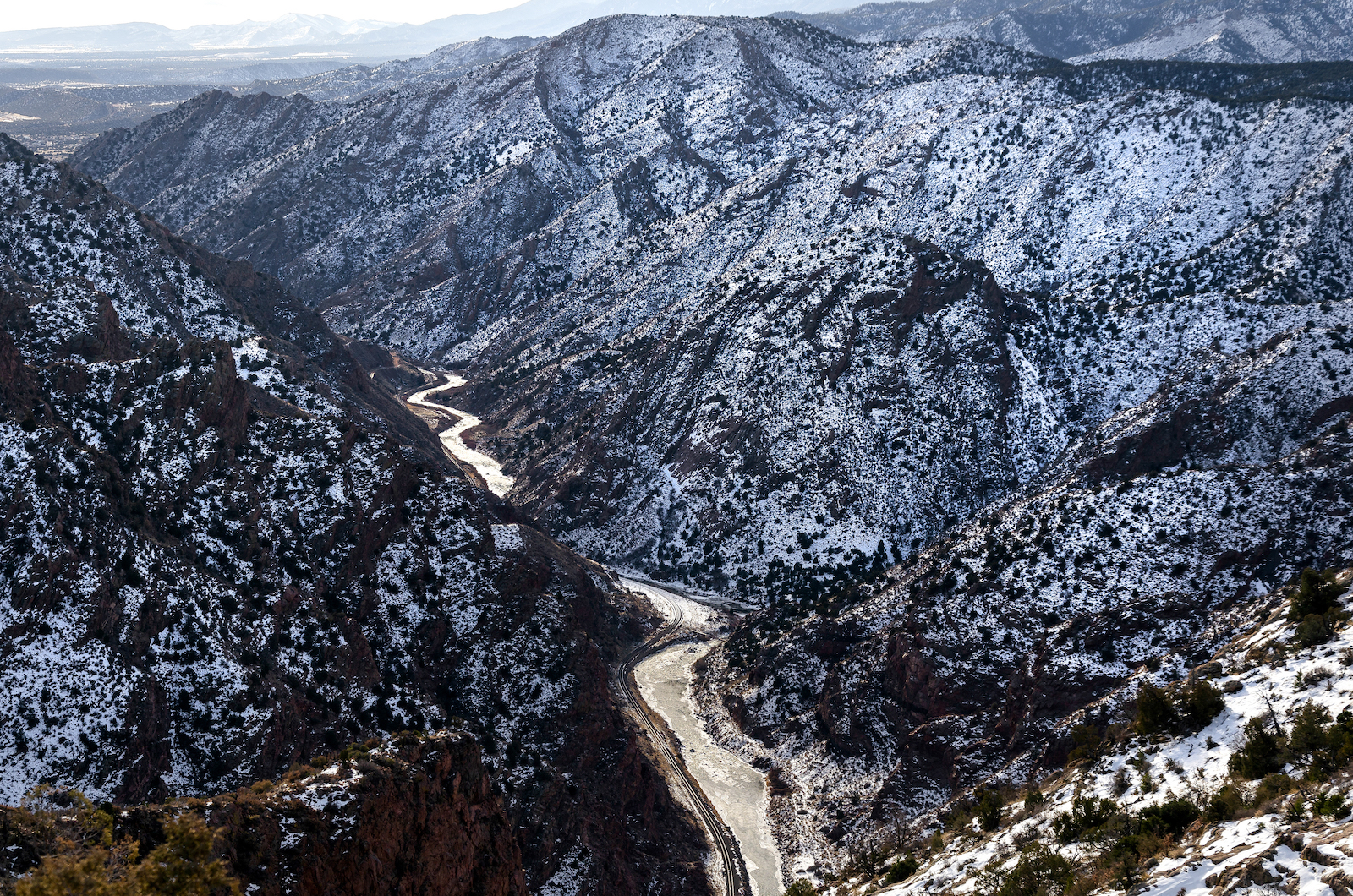 Royal Gorge Winter Hiking Colorado