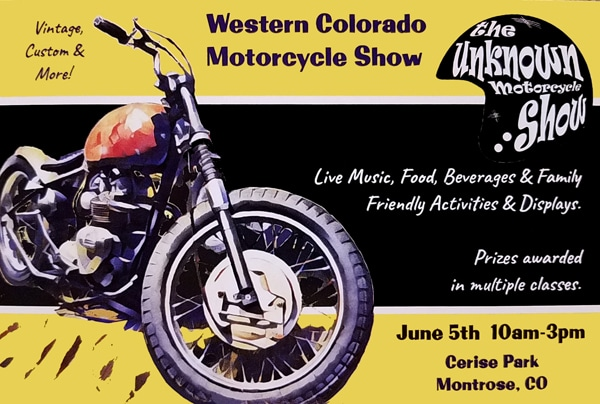 Unknown Motorcycle Show Montrose Postcard