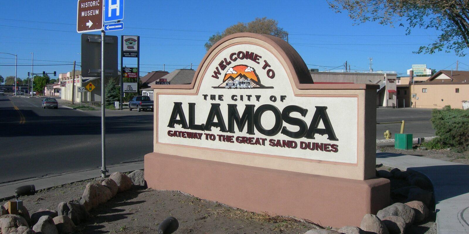 image of alamosa sign