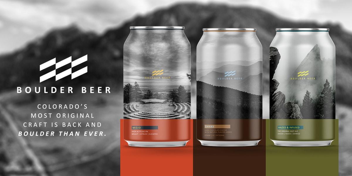 Boulder Beer Cans Lineup