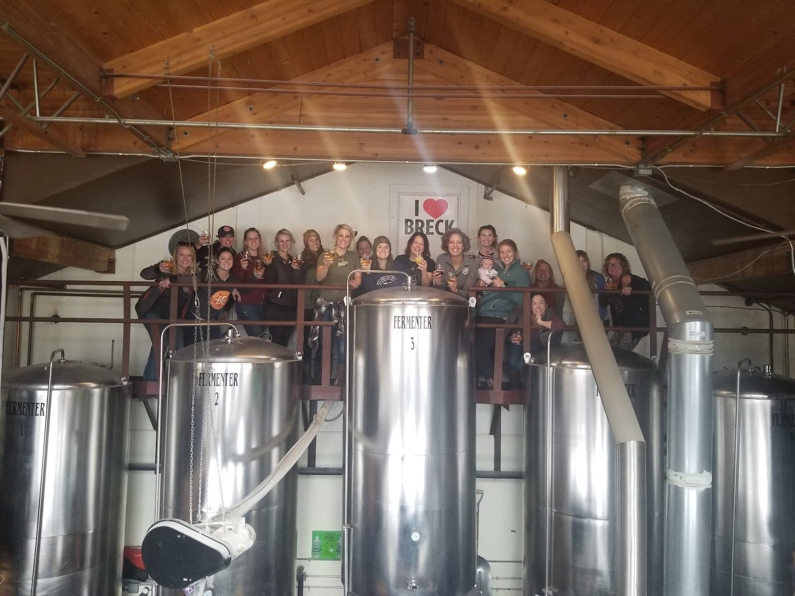 Image of people doing a tour at Breckenridge Brewery in Colorado