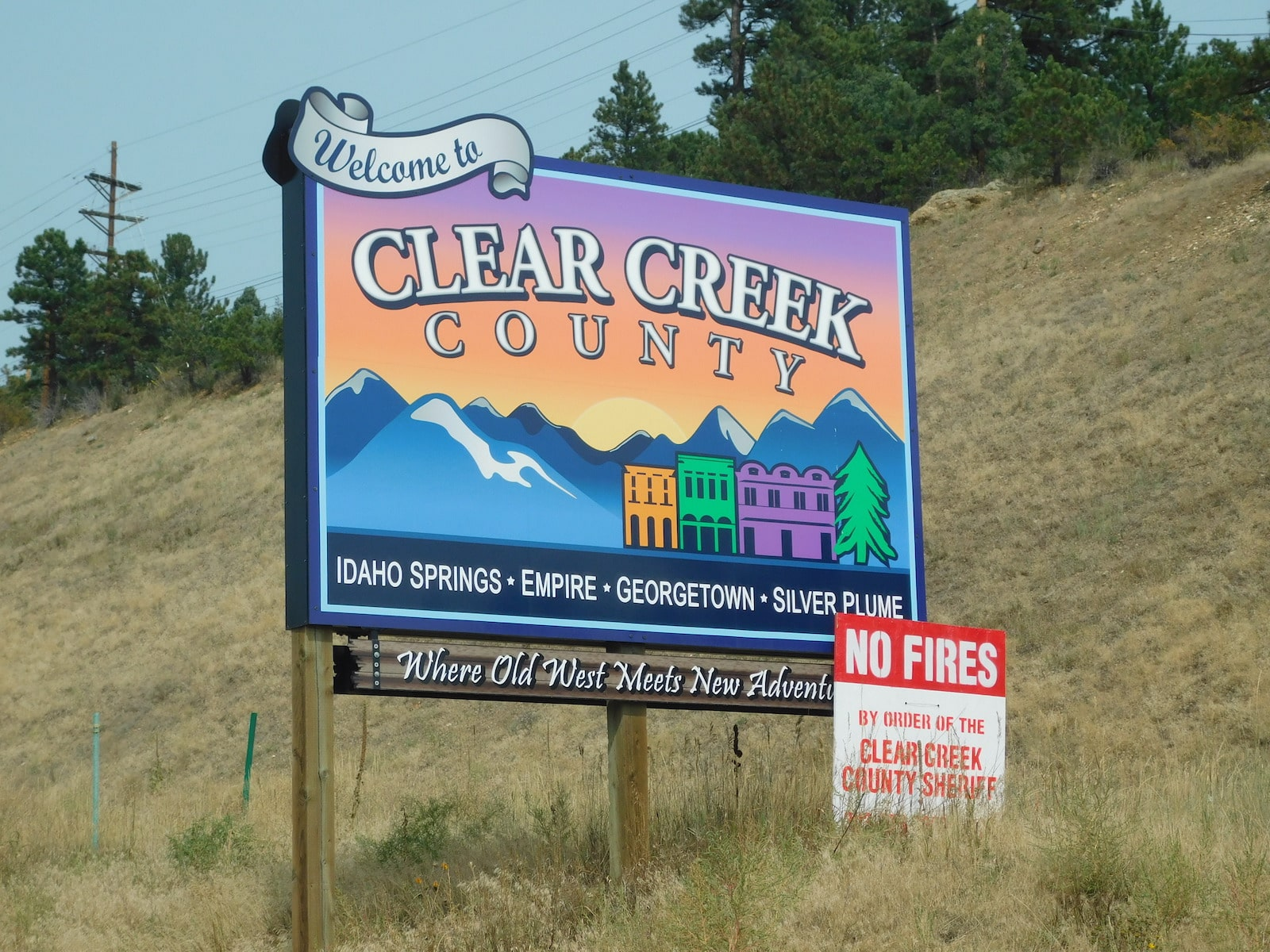 Clear Creek County Welcome Sign