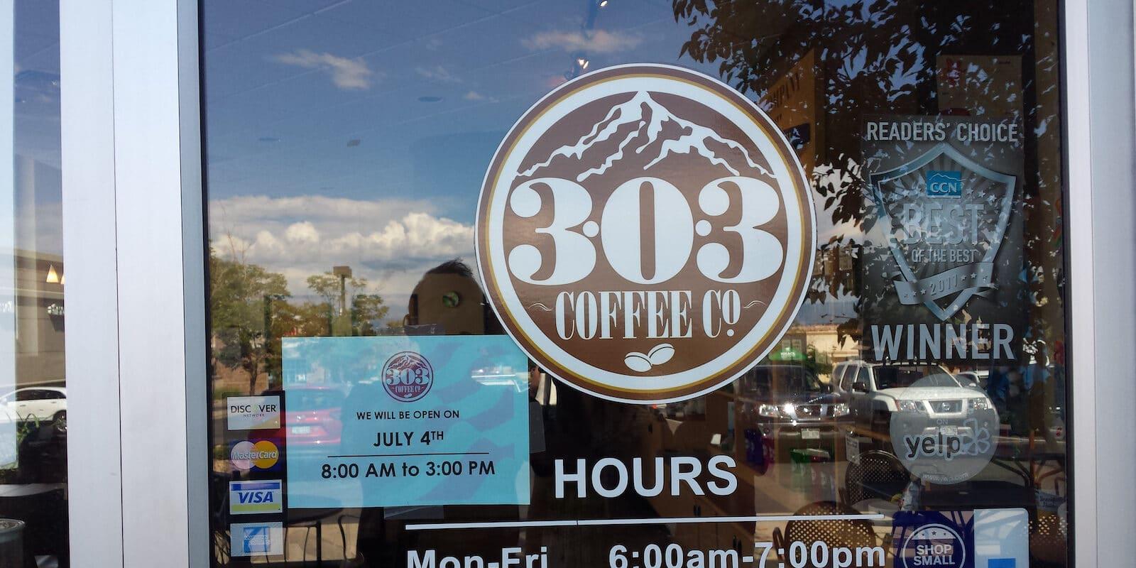 Colorado Area Code 303 Coffee Co Sign