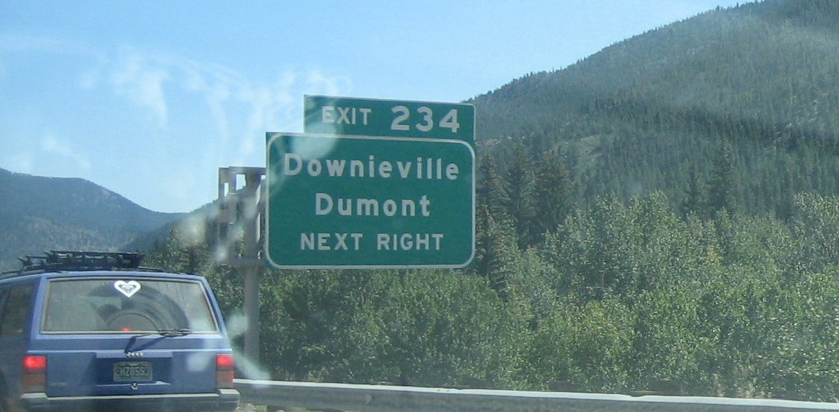 Downieville Dumont Colorado Exit I-70