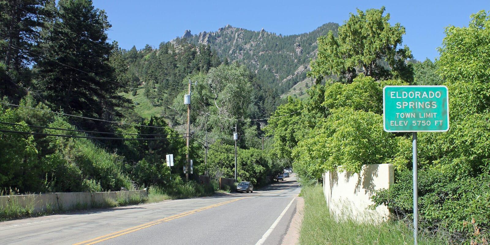Eldorado Springs Colorado Sign